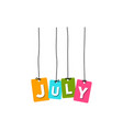 july word vector image vector image