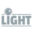 lightbulb logo simple gray style vector image vector image