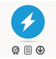 Lightning icon Electricity energy power sign vector image vector image
