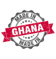 made in ghana round seal vector image vector image