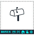 Mailbox icon flat vector image vector image