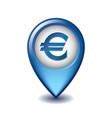marker location icon euro sign vector image vector image
