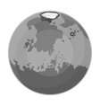 Mars icon in monochrome style isolated on white vector image vector image