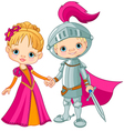Medieval Boy and Girl vector image