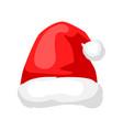 merry christmas hat santa claus vector image vector image
