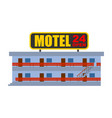 motel isolated small cheap hotel vector image vector image