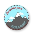 mountain themed outdoors emblem vector image vector image