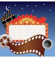 movie marque vector image vector image
