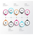 music outline icons set collection of headphones vector image vector image