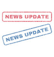 news update textile stamps vector image vector image