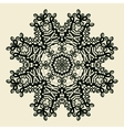 Outlined Mandala Print Stylized Oriental Lace vector image vector image
