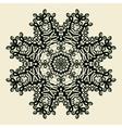 Outlined Mandala Print Stylized Oriental Lace