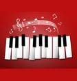 piano keys music notes and staff abstract vector image vector image