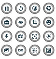 picture icons set with switch cam add a photo vector image