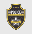 police medallion security and federal agent back vector image