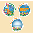 Price sticker with text Easter sale vector image vector image