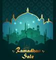 ramadan kareem sale with mosque vector image