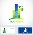 Real estate icon logo vector image vector image