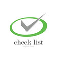 round green check logo vector image