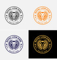 royal lion badge logo template vector image vector image