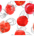 seamless pattern with drawing poppy flowers vector image vector image