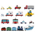 set cartoon transport collection cars and vector image vector image