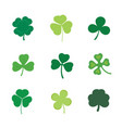 set four and three leaf clover stock vector image