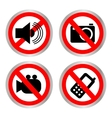 Set of icons forbidding vector image vector image