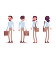 smart casual man and woman standing vector image vector image