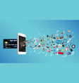 smartphone with credit card and general object vector image vector image