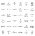 submarine icons set outline style vector image vector image