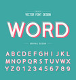 texture font and grunge alphabet word and number vector image