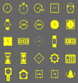 Time color icons on gray background vector image