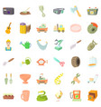tool for craft icons set cartoon style vector image vector image