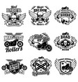 vintage motorcycle labels motorbike retro vector image