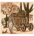 Wild West Sheriff - An hand drawn vector image vector image