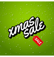 Xmas Sale Christmas sale card with lettering vector image vector image