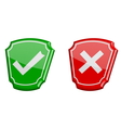 yes or no 3d icons vector image
