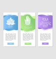 yoga studio meditation ayurvedic business cards vector image vector image