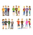 youth group of teenagers grouped teens vector image