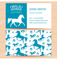 Horses Business Card 2 vector image