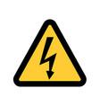 high voltage sign danger symbol black arrow vector image