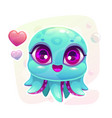 little cute cartoon baby octopus vector image
