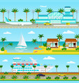 summer cruise vacation banners vector image