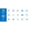 15 box icons vector image vector image