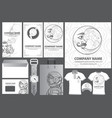 a set of beautiful black and white templates for vector image vector image