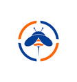 abstract bee logo concept icon vector image vector image