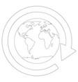 around the globe vector image vector image