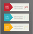 arrow banner template design with horizontal vector image vector image
