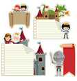 banner templates with fairytale characters vector image vector image